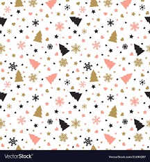 Cute Background With Christmas Tree Snowflakes