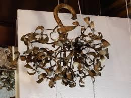 Mistletoe Ball Lights 1900 Chandelier Mistletoe Ball Art Nouveau Bronze 4 Lamps