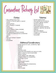 Convention Packing List - A Joyful Jaunt