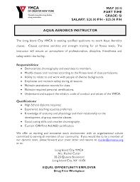 Resume Fitness Instructor Resume