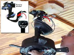 hunter ceiling fan mounting bracket kit angled