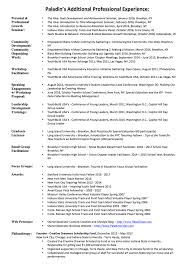 Student leadership resume