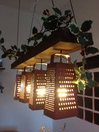 diy lighting fixtures. Vintage Charm Using Cheese Graters Turned Into Lighting. Diy Lighting Fixtures A