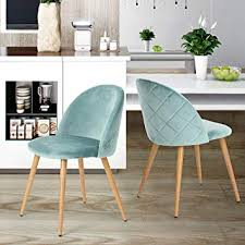 coavas dining chairs soft seat and back velvet living room chairs with wooden style sy metal