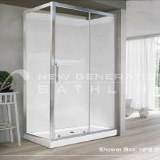 bathroom vanities showers shower sliding 1200 door x 900 panel chrome frame sliding door square 2 wall bathroom