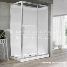 bathroom vanities showers shower sliding 1200 door x 900 panel chrome frame sliding door square 2 wall bathroom
