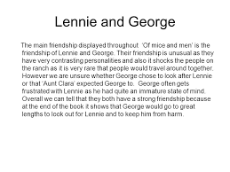 of mice and men friendship ppt video online  lennie and george