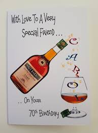 Personalised 70th Brandy Birthday Card Friend Neighbour 40th 50th ...