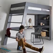 kids loft bed with desk. Julien-Bunk-Bed-In-Grey-For-Kids.jpg Kids Loft Bed With Desk B