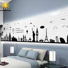new modern removable wall stickers large black eiffel tower sydney