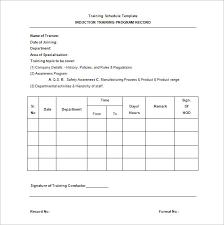 Training Chart Template 25 Training Schedule Templates Docs Pdf Free Premium