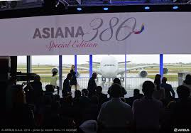 Airbus A380 Seating Chart Asiana Asiana Airlines Takes Delivery Of Its First Airbus A380