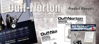 product manuals duff norton air motor jacks 50 ton capacity bossman jacks