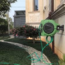 20m auto rewind retractable garden hose reel rewinding driveway car wa