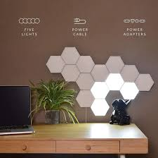 Diy Wall Light Panel Details About 5pcs Hexagonal Panel Modular Touch Induction Magnetic Home Diy Wall Lamp Light