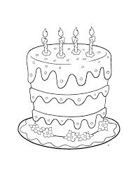 Birthday Cake Coloring Pages Preschool Avusturyavizesiinfo
