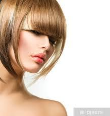 Fototapeta Vinylová Krásná Módní žena účes Pro Krátké Vlasy Fringe Stříhání