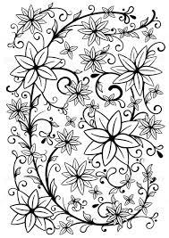 花柄壁紙 暖色 イラスト素材 3696196 フォトライブラリー Photolibrary