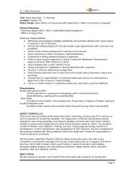 Sales Job Description For Resume Resume For Study