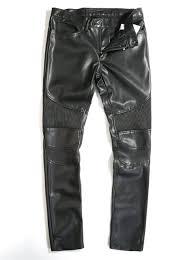 2015 Fashion Autumn Winter Man Black Knee Patches Quilted lONG ... & 2015 Fashion Autumn Winter Man Black Knee Patches Quilted lONG Leather Pants  Men Biker Trousers size Adamdwight.com