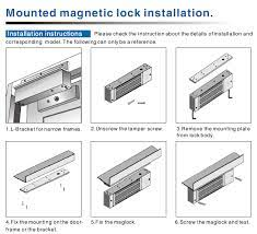280kg fail secure mgnetic locks for