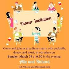 Dinner Invite Cards Formal Party Invitation Home Improvement