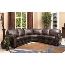 Interesting Brown Leather Sectional Couches Sofas Shop The Best Deals For Intended Design Ideas