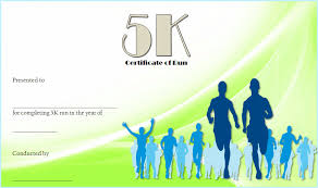 Fun Run Certificate Template 5k Race Certificate Template 5 Paddle At The Point
