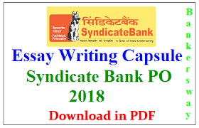 writing capsule pdf syndicate bank po  essay writing capsule pdf syndicate bank po 2018