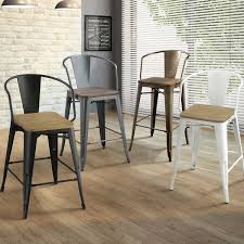 furniture of america tripton counter height chair set of 2