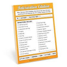 Intoxication Citation Nifty Notes