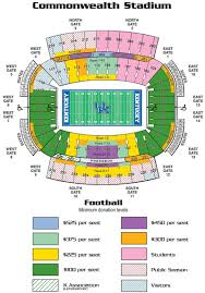 Commonwealth Stadium Seating Chart 18 Organized Commonwealth Stadium Kentucky Seating Chart