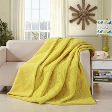 DaDa Bedding Tuscan Sun Solid Yellow Reversible Soft Stitched with ... & Throw Blanket - DaDa Bedding Tuscan Sun Solid Yellow Reversible Soft  Stitched With Sherpa Backside Quilted Adamdwight.com