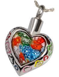 pet cremation jewelry art gl heart pendant 2
