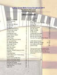 Luther Crest Bible Camp Songs