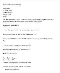 Graphic Designer Resume Format Graphic Designer Resume 7 Free Sample