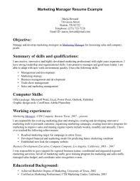 Marketing Resume Objective Sevte
