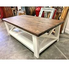 white table with wood top farmhouse and coffee marketplace legs