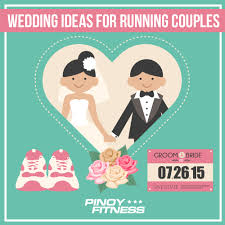 5 wedding ideas for running couples pinoy fitness Running Themed Wedding Invitations 5 wedding ideas for running couples Medieval Wedding Invitations