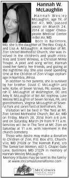 Hannah W McLaughlin Obituary - 2014 - Newspapers.com