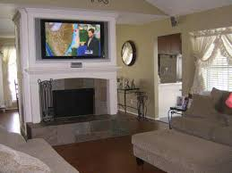 ideal tv height mounting above fireplace home theater diy