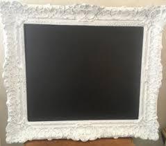 large vintage handmade chalkboard in plaster frame