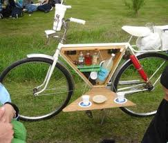 Bicycle Can Be A Mini Outside Picnic Table