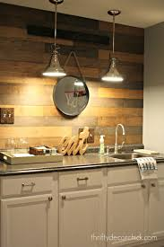 Pallet Wood Backsplash My New Favorite Wood Planked Wall From Thrifty Decor Chick