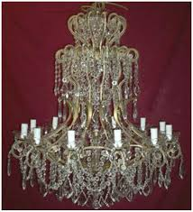 antique 12 light crystal drop elegant with murano glass chandelier
