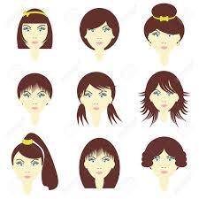 別の髪型を持つ女の子のイラスト素材ベクタ Image 11233007