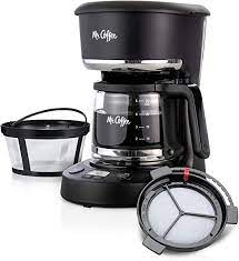 Coffee espresso and cappuccino maker, $125 (was $200), amazon.com. Amazon Com Mr Coffee 5 Cup Programmable 25 Oz Mini Brew Now Or Later With Water Filtration And Nylon Reusable Filter Coffee Maker Black Kitchen Dining