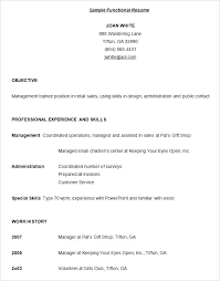Functional Resume Definition New Samples Of Combination Resumes Good Template Resume Format Example