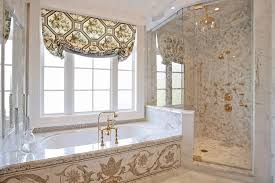 old world style bathroom traditional with shower enclosure
