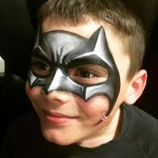 Face Painting Superheroes Design Nice Shading Batman Mask Batman Face Paint Superhero Face